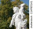 Shepherd sculpture in the Schloss Charlottenburg garden in Berlin, Germany - stock photo