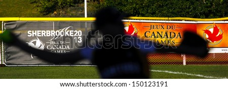 Sherbrooke Canada August Women Softball Pitcher