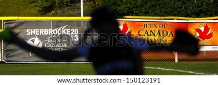 Sherbrooke Canada August Women Softball Pitcher