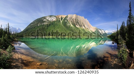 Sherbrooke Lake, British Columbia, Canada  Start Point Hike is Approx 30 Miles West of Lake Louise Approx.3/4 hour easy Hike, One way - stock photo