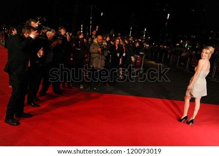 "Sheridan Smith at the premiere for ""Quartet"" being shown as part of the London Film Festival 2012, Odeon Leicester Square, London. 15/10/2012 Picture by: Steve Vas - stock photo"