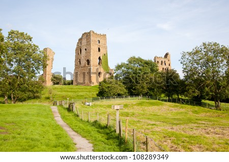Sheriff Hutton Castle in North Yorkshire, England - stock photo