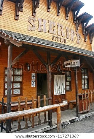 Sheriff in Western city, Liptovsky Mikulas - Slovakia - stock photo