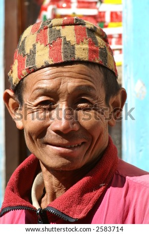 Sherpa Man in Nepali Hat