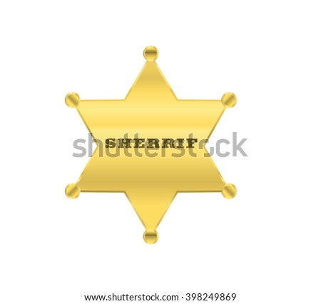 sherrif golden star design - stock photo