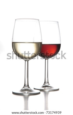sherry wine variety cups - stock photo