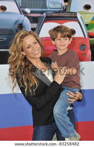 "Sheryl Crow & son Wyatt at the premiere of ""Cars 2"" at the El Capitan Theatre, Hollywood. June 18, 2011  Los Angeles, CA Picture: Paul Smith / Featureflash"