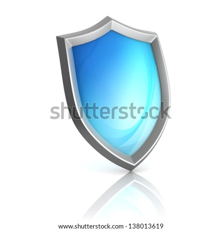 shield 3d icon - stock photo