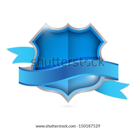 shield seal illustration design over a white background - stock photo