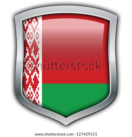 Shield with flag inside - Belarus - stock photo