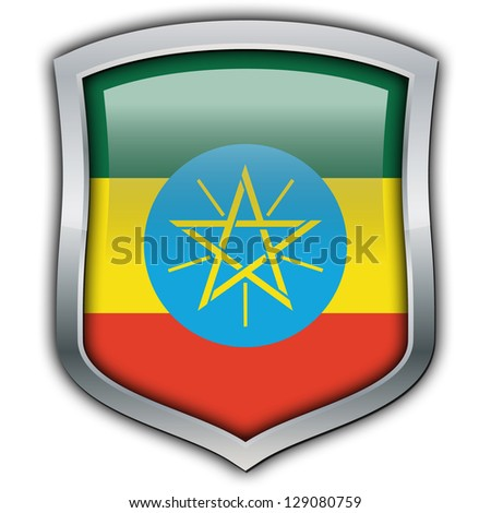 Shield with flag inside - Ethiopia