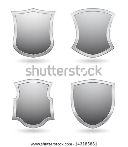 shields design - stock photo