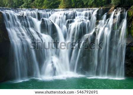 Shifen Waterfall close up, long shutter speed. Taiwan 2016