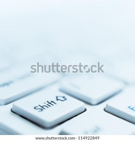 Shift key detail view - stock photo