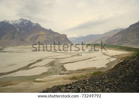 Shigar valley Pakistan - stock photo