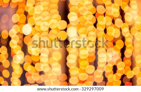Shimmering blur lights on abstract christmas light blurred background - stock photo