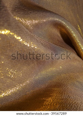Shimmering silky satin closeup. Ideal for Christmas designs. More of this motif & more fabrics in my port. - stock photo