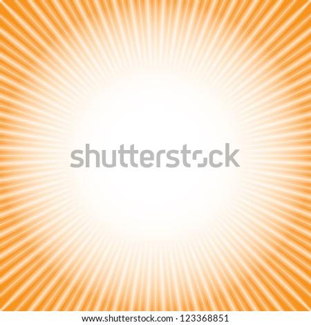 shine. orange background (raster version of vector) - stock photo