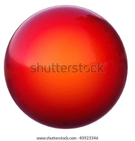shine sphere isolated on white - stock photo