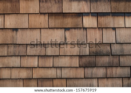 Shingle Aged Wooden Background - stock photo