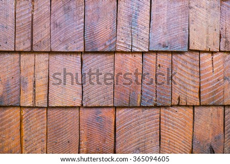 Shingle Aged Wooden Background with Copyspace - stock photo