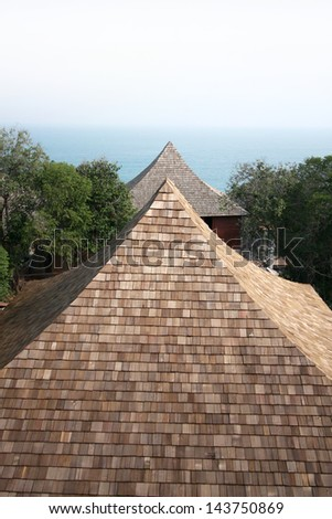 Shingle roof - stock photo