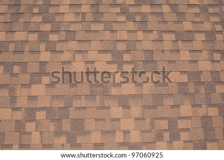 Shingle roof - For pattern and texture background - stock photo