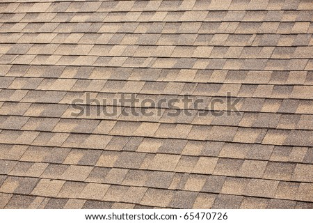 Shingles Texture on a Roof. - stock photo