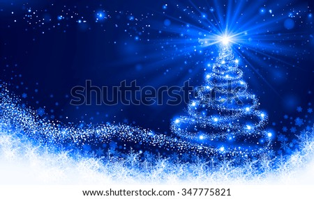 shining blue christmas tree - Blue Christmas Trees