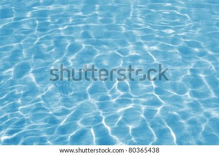 Shining blue water background - stock photo