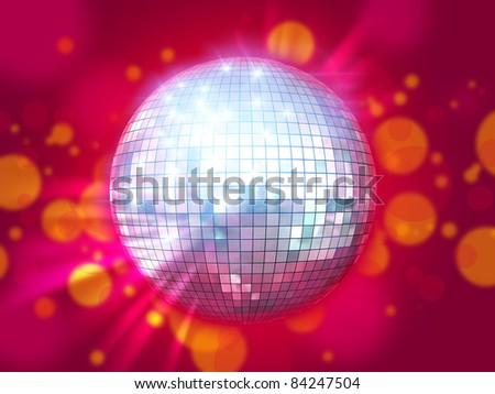 Shining disco ball - stock photo