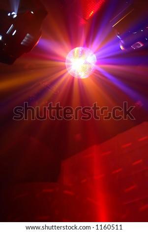Shining disco ball in a night club - stock photo