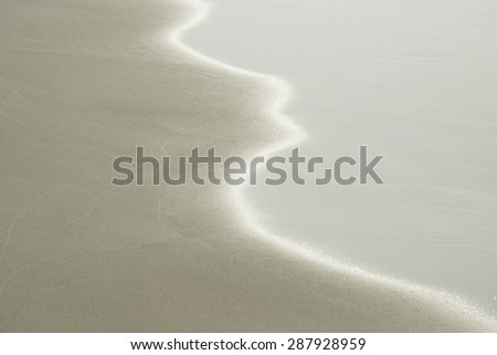 Shining sand wave on the beach- texture and background