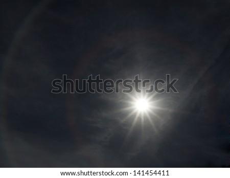 Shining sun - stock photo