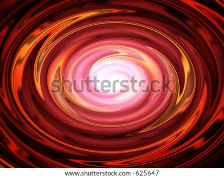 Shining Wave in Red - stock photo