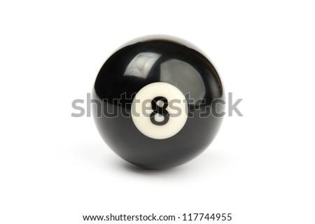Shiny ball for billiard on white background - stock photo