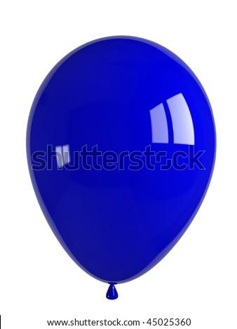 shiny blue balloon - stock photo