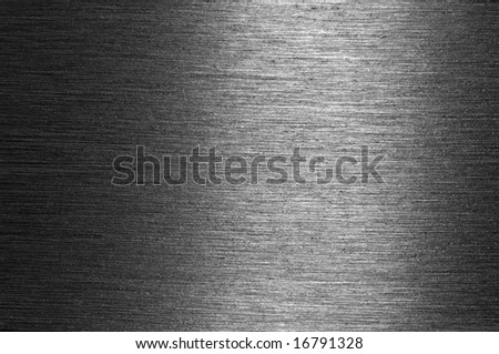 Shiny brushed metal surface suitable for for background - stock photo