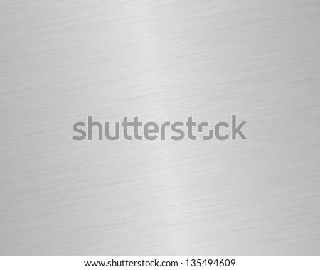 Shiny Brushed Steel - stock photo