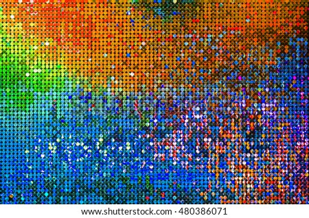 Shiny Circle Orange Blue Green Yellow Stock Illustration 480386071 ...