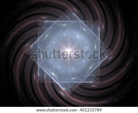 Shiny colorful fractal space, digital artwork for creative graphic design