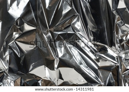 Shiny crumpled foil paper (as a background)