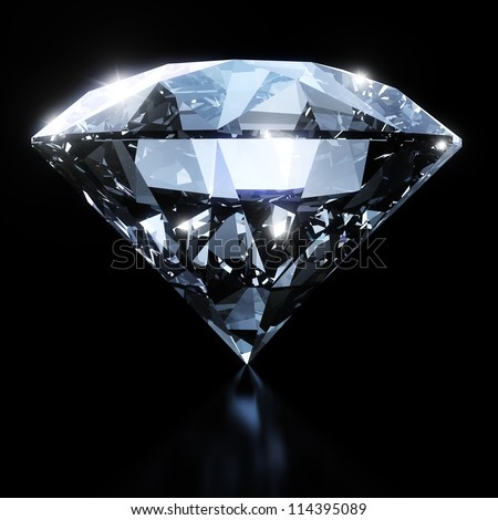 Shiny diamond - stock photo