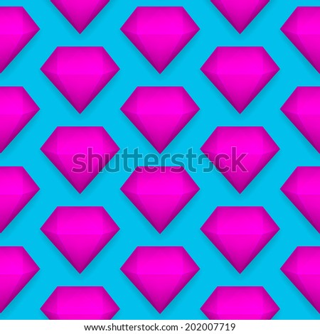 shiny diamond seamless pattern