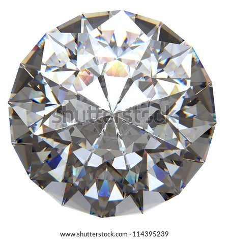 Shiny diamond with clipping path - stock photo