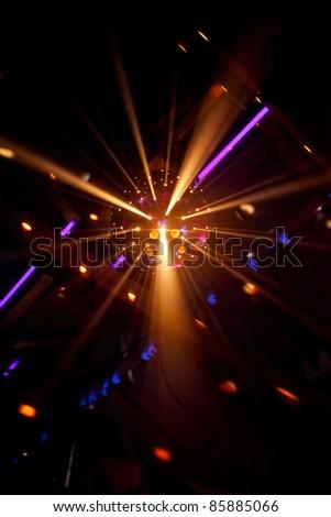 shiny disco ball on nightclub - stock photo