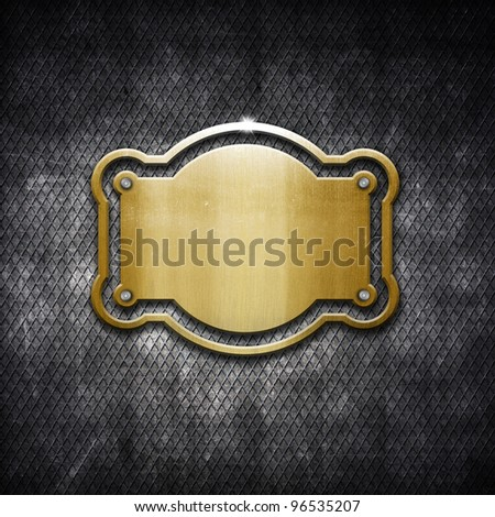 Shiny distressed metal frame on grunge background