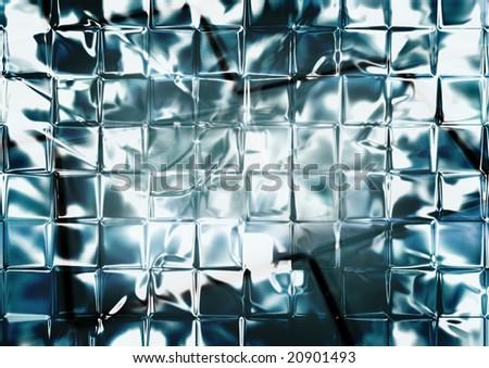 Shiny glass wall - stock photo