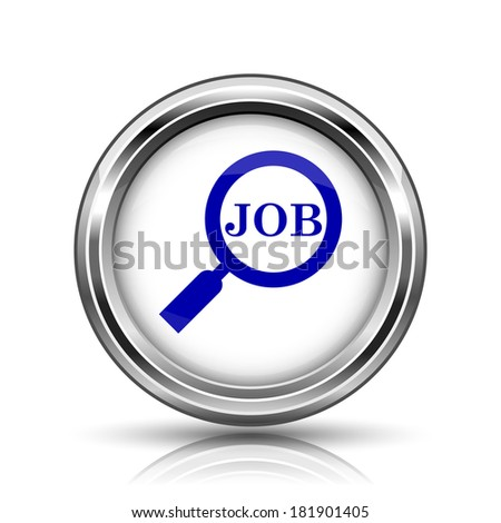 Shiny glossy icon - internet metallic button - stock photo