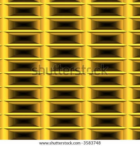 Shiny gold metal - stock photo